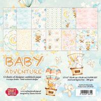 """Дизайнерски комплект хартии """"Бебешко приключение"""", 30см, Craft&You Design"""