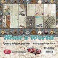 "Дизайнерски комплект хартии ""Мъжки свят"", 30см, Craft&You Design"