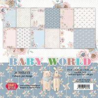 """Дизайнерско блокче хартии """"Бебешки свят"""", 15см, Craft&You Design"""