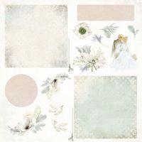 """Дизайнерски лист хартия """"Нежен момент"""" -7 - 30.5см, Craft&You Design"""