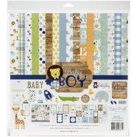 """Дизайнерски комплект хартии """"Бебе - момче"""", 30.5см, Echo Park"""