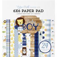 """Дизайнерско блокче хартии """"Бебе - момче"""", 15см, Echo Park"""