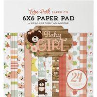 """Дизайнерско блокче хартии """"Бебе - момиче"""", 15см, Echo Park"""