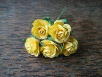 Рози, златистожълти, 25мм