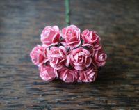 Рози, яркорозови, 15мм