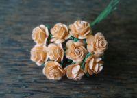 Рози, наситена праскова, 15мм