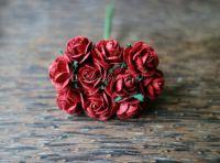 Рози, тъмночервени, 15мм