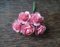 Рози, яркорозови, 25мм
