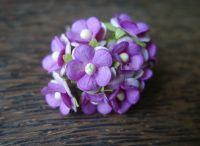 Цветенца от мълбери хартия, пурпурен цвят, 15мм