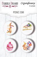 "Скрапбукинг копчета ""Sweet Birthday 1"", 4бр., Fabrika Decoru"
