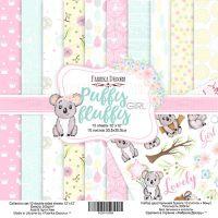 """Комплект дизайнерски хартии """"Puffy Fluffy Girl"""", 30см, Fabrika Decoru"""