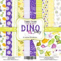 """Комплект дизайнерски хартии """"Dino baby"""", 30см, Fabrika Decoru"""