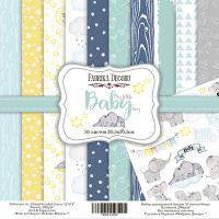 "Комплект дизайнерски хартии ""My little baby boy"", 30см, Fabrika Decoru"
