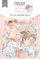 "Дизайнерски хартиени елементи ""Shabby baby girl redesign"", Fabrika Decoru"