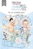 "Дизайнерски хартиени елементи ""Shabby baby boy redesign"", Fabrika Decoru"