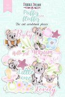"Дизайнерски хартиени елементи ""Puffy Fluffy Girl"", Fabrika Decoru"
