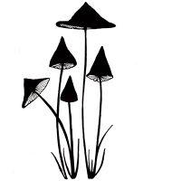 "Прозрачен печат ""Slender Mushrooms Miniature"", Lavinia Stamps"
