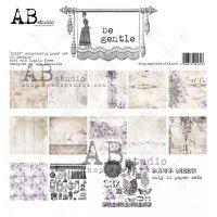 """Дизайнерски комплект хартии """"Be Gentle""""-30см, ABStudio"""