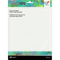 Tim Holtz Alcohol Ink White Yupo Paper, 390gsm