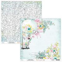 """Дизайнерски лист хартия """"Happy Place""""-01, Mintay Papers, 30.5см"""