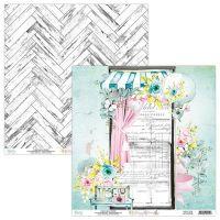 """Дизайнерски лист хартия """"Happy Place""""-03, Mintay Papers, 30.5см"""