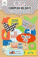 """Дизайнерски хартиени елементи """"European holidays"""", Fabrika Decoru"""