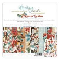 "Дизайнерско блокче хартии ""Home for Christmas"", 15см, Mintay Papers"