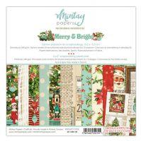 "Дизайнерско блокче хартии ""Merry & Bright"", 15см, Mintay Papers"