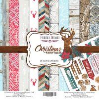"""Комплект дизайнерски хартии """"Christmas fairytales"""", 20см, Fabrika Decoru"""