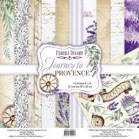 """Комплект дизайнерски хартии """"Journey to Provence"""", 20см, Fabrika Decoru"""