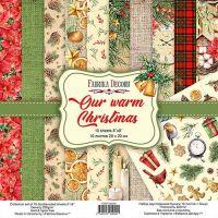 "Комплект дизайнерски хартии ""Our warm Christmas"", 20см, Fabrika Decoru"