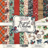 """Комплект дизайнерски хартии """"The spirit of Christmas"""", 20см, Fabrika Decoru"""