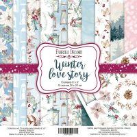 """Комплект дизайнерски хартии """"Winter Love Story"""", 20см, Fabrika Decoru"""