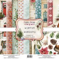 """Комплект дизайнерски хартии """"Winter wonders"""", 20см, Fabrika Decoru"""