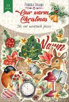 "Дизайнерски хартиени елементи ""Our warm Christmas"", Fabrika Decoru"