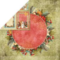 """Дизайнерски лист хартия """"Коледни цветове"""" -6 - 30.5см, Craft&You Design"""