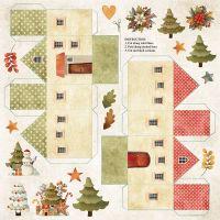 """Дизайнерски лист хартия """"Коледни цветове"""" -9 - 30.5см, Craft&You Design"""