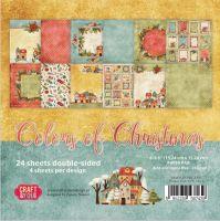 """Дизайнерско блокче хартии """"Коледни цветове"""", 15см, Craft&You Design"""