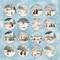 """Дизайнерски лист хартия """"Зимна ваканция"""" -7 - 30.5см, Craft&You Design"""