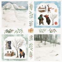 """Дизайнерски лист хартия """"Зимна ваканция"""" -8 - 30.5см, Craft&You Design"""
