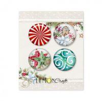 """Скрапбукинг копчета """"Тази Коледа"""", 4бр., Lemoncraft"""