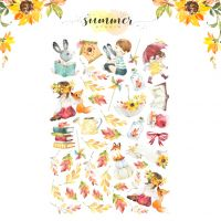 "Дизайнерски хартиени елементи ""Autumn stories"", Summer Studio"