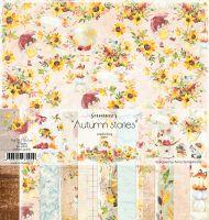 """Дизайнерски комплект хартии """"Autumn stories"""", 30.5см, Summer Studio"""