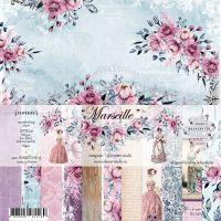 "Дизайнерски комплект хартии ""Marseille"", 20см, Summer Studio"