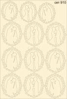 """Елементи от бирен картон """"Сватбени рамки"""", сет 910"""