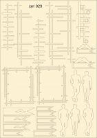 """Елементи от бирен картон """"Мъжки елементи"""", сет 929"""