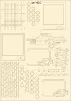"""Елементи от бирен картон """"Декоративни елементи"""", сет 930"""