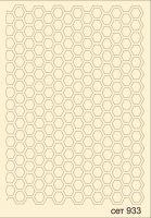 """Елементи от бирен картон """"Фон-пчелна пита"""", сет 933"""