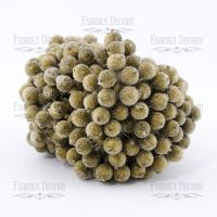 Заскрежени плодчета, златисти, 20бр., 12мм