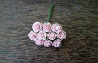 Рози, светлорозови, 15мм